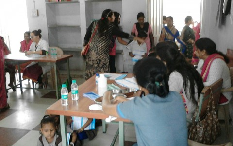 Free medical camp @ Maa Bharti school