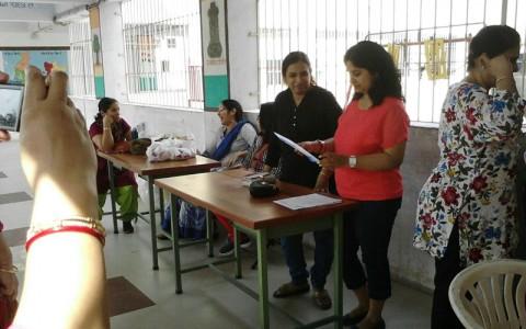 Free medical camp @ Maa Bharti school